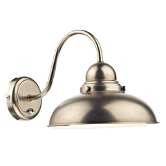 Dynamo Antique Chrome 1 Light Wall Bracket - London Lighting - 1