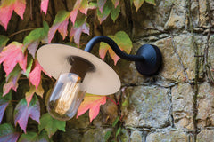 Dafni Black Outdoor Wall Light - London Lighting - 1