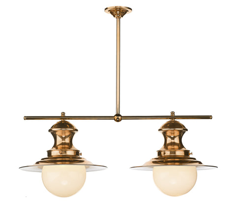 Twin Station Lamp in Copper - London Lighting - 1