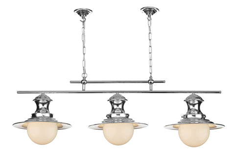 Triple Station Lamp in Chrome - London Lighting - 1