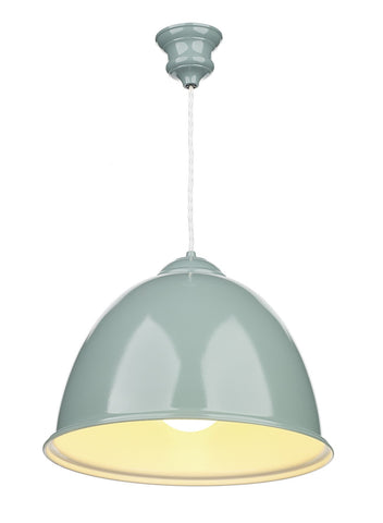 Euston Blue Verditer Ceiling Suspension - London Lighting - 1