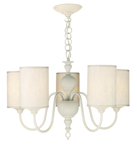 Flemish Cream 5 Lamp Ceiling Light - London Lighting - 1