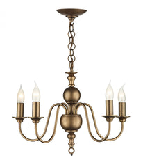 Flemish Bronze 5 Lamp Ceiling Light - London Lighting - 1