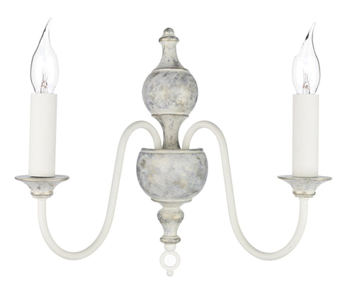 Flemish Distressed Cream Wall Light - London Lighting - 1