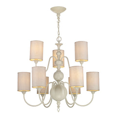 Flemish Cream 9 Arm Chandelier - ID 8729