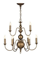 Flemish Bronze 9 Lamp Ceiling Light - London Lighting - 1