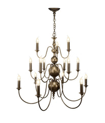 Flemish Bronze 15 Lamp Ceiling Light - London Lighting - 1