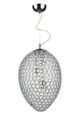 Frost Chrome 3 Lamp Pendant Light - London Lighting - 1
