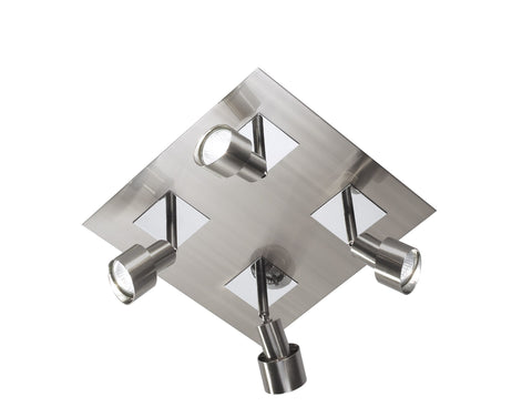 Dar Futura Satin Chrome Spotlight Plate - London Lighting - 1