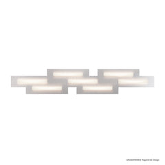 Grossmann FIS Seven Lamp Linear Ceiling Light - Colour Options