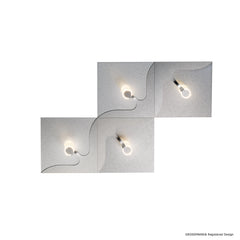 Grossmann Flow 74-811-072 Wall / Ceiling Light In Aluminium - ID 9618