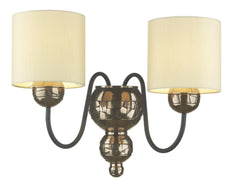 Garbo Bronze & Cream Wall Light - London Lighting - 1
