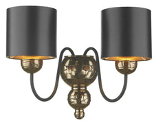 Garbo Bronze & Black Wall Light - London Lighting - 1