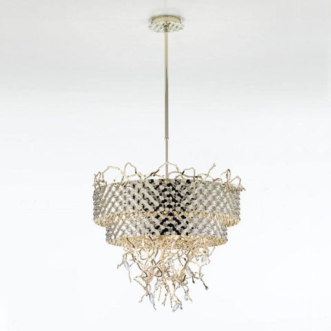 Groovy 10 Light Circular Chandelier