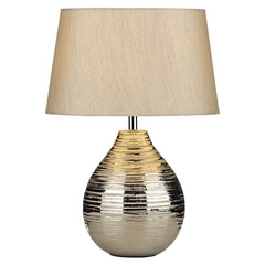 Gustav Silver Small Table Lamp - London Lighting - 1