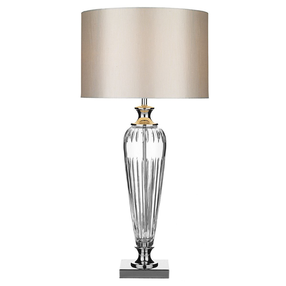 Aldwych Polished Chrome and Glass Table Lamp ID 1892