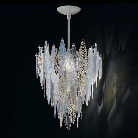 Ice Rain Large Murano Glass Chandelier