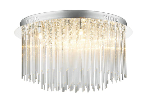 Dar Icicle 8lt Flush Ceiling Light - London Lighting - 1