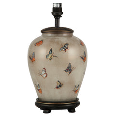 Butterflies Small Glass Table Lamp - ID 9832