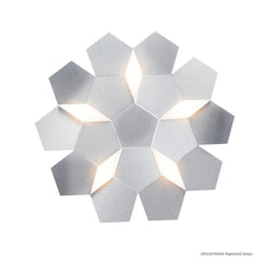 Grossmann Karat Medium Wall / Ceiling Light In Aluminium - ID 6663