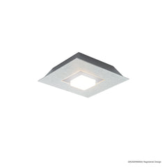Grossmann KARREE Pearlescent One Lamp Wall / Ceiling Light - Colour Frame Options