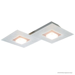 Grossmann KARREE Pearlescent Two Lamp Wall / Ceiling Light - Colour Frame Options