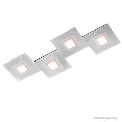 Grossmann KARREE Pearlescent Four Lamp Wall / Ceiling Light - Colour Frame Options