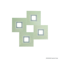 Grossmann KARREE Pearlescent Four Lamp Square Wall / Ceiling Light - Colour Frame Options