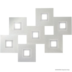 Grossmann KARREE Pearlescent Seven Lamp Wall / Ceiling Light - Colour Frame Options