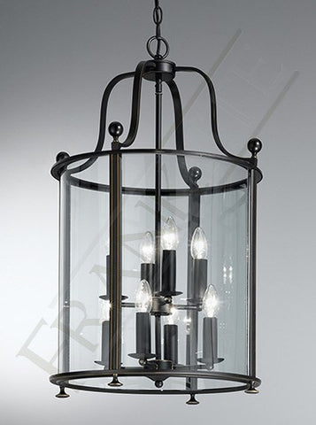 Pasillo 8 Lamp Lantern Dark Bronze - London Lighting