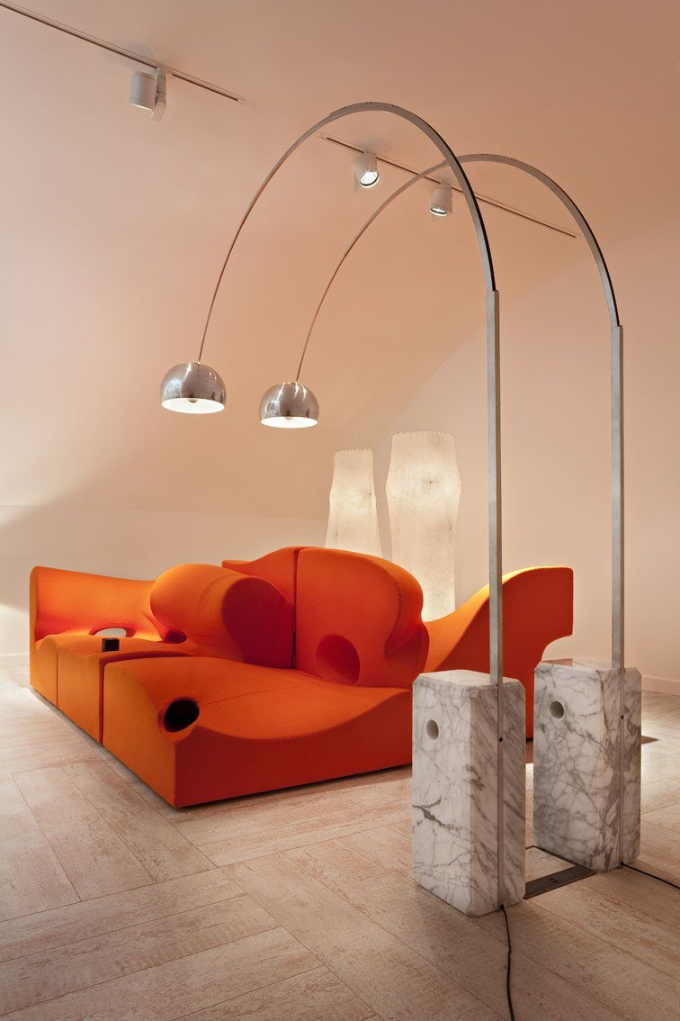 Flos arco marble multichip led floor lamp london lighting for Flos castiglioni arco