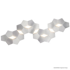 Grossmann Linde Large Wall / Ceiling Light In Aluminium - ID 6722