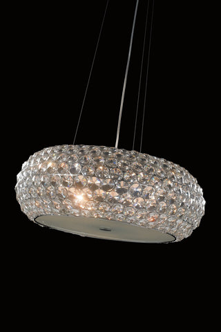 Star Clear Cystal Large Pendant - London Lighting