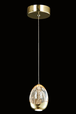 Terrene 1 Light Gold Pendant - London Lighting