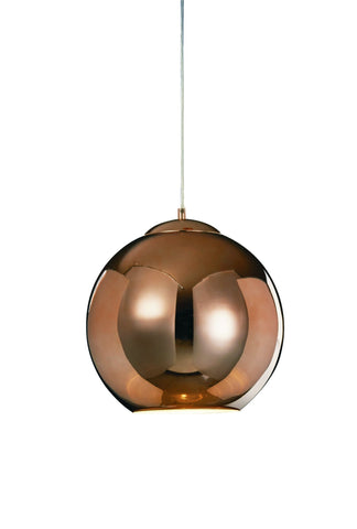 Oberon Large Copper Pendant - London Lighting
