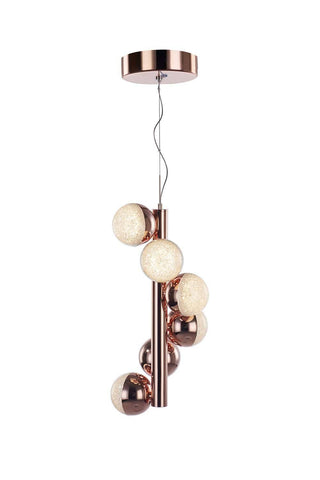 Eclipse 6 Light Copper Pendant - London Lighting