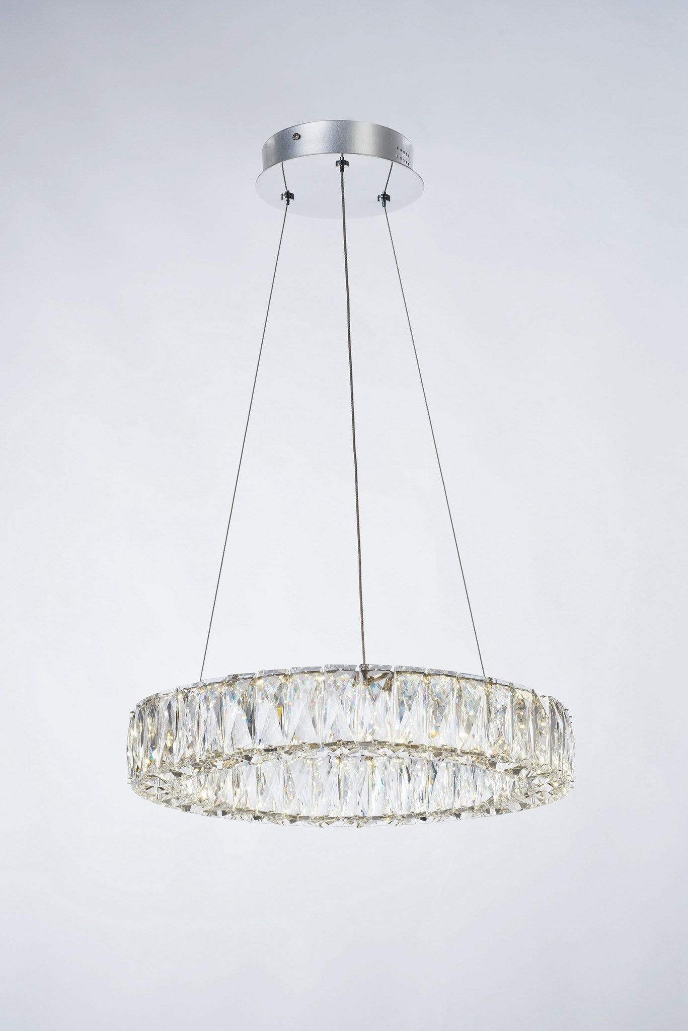 Crystal Ring Small Dimmable Pendant – London Lighting