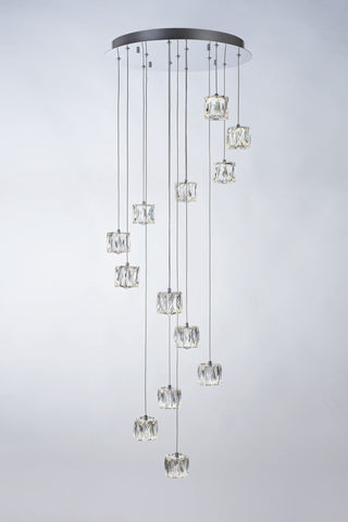 Glacier 13 Light Spiral Pendant - London Lighting