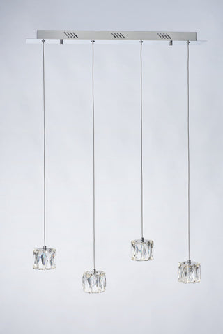 Glacier 4 Light Bar Pendant - London Lighting