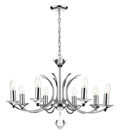 Medusa Chrome 8 Arm Chandelier - London Lighting - 1