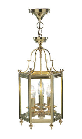 Moorgate Polished Brass Ceiling Lantern - London Lighting - 1