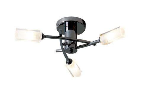 Morgan Black Chrome 3 Lamp Semi-Flush - London Lighting - 1