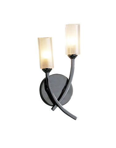 Morgan Black Chrome Wall Lamp - London Lighting - 1