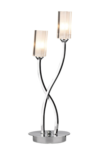 Morgan Polished Chrome Table Lamp - London Lighting - 1