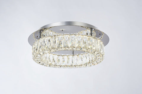 Crystal Ring Dimmable Flush - London Lighting