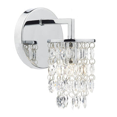 Niagra Polished Chrome Clear Single Wall Bracket - London Lighting - 1