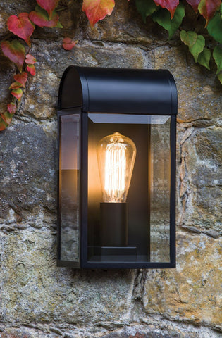 Newbury Black Outdoor Wall Light - London Lighting - 1