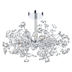 Oberoi Polished Chrome 6 Lights Semi-Flush - London Lighting - 1