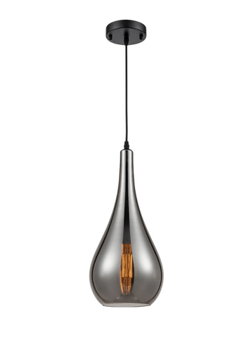 Aperfield Pear Single Pendant In Smoked Glass - ID 8394