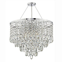 Pescara Polished Chrome 5 Lights Pendant Light - London Lighting - 1